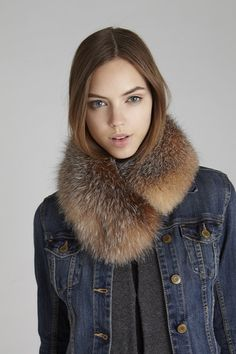 Crystal Windsor Fox Fur Collar