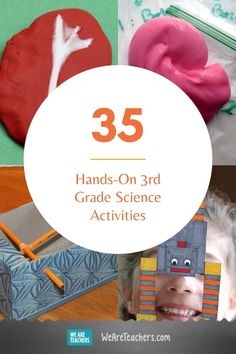 35 Hands-On Third Grade Science Activities. Hands-on experiments are the best way to engage grade science students in learning. Mix up slime, crystalize leaves, and even make ice cream! 3rd Grade Science Projects, Third Grade Science, Science Student, Science Fair, Science Lessons, Teaching Science, Science Activities, Science Experiments, Activities For Kids