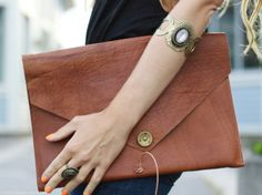 Old leather jacket or pants idea ... turn into diy clutch or purse?