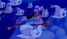 "Aladdin (Brad Kane) & Jasmine (Lea Salonga) singing ""A Whole New World"""