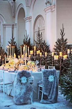 chic winter wedding tablescape inspiration