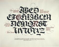 "calligraphy ""Letting Alphabet Designs"""