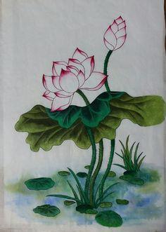 nature wallpaper for you - Photography - Mi Community - Xiaomi Lotus Artwork, Lotus Painting, Lily Painting, Fabric Painting, Painting Art, Lotus Flower Art, Folk Art Flowers, Botanical Flowers, Korean Art