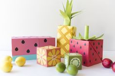 To make the watermelon wrapping paper Materials: sea foam paper pink paper (use butcher...  Read more »
