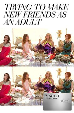 How to attract new friends: A trendy outfit that's not too skimpy. It's not as simple as it sounds, but making new friends as an adult gets harder as you get older. Use code ADULTBFF3 for $35 off a $100 purchase, valid 9/28-10/5.