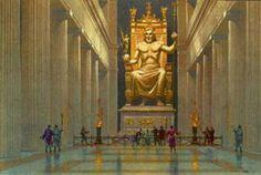 """""""A Estátua de Zeus"""". Uma das 7 Maravilhas do Mundo Antigo. Olímpia, Grécia."""