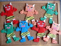 Japanese Kids, Craft Activities For Kids, Origami, Characters, Crafts, School Decorations, School, Manualidades, Figurines