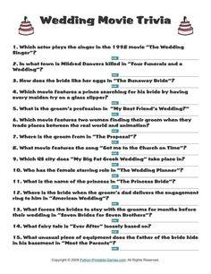 Bachelorette party games pinterest bachelorette quiz gamejpg and wedding wedding movie trivia 195 wedding themed quizzes junglespirit Images