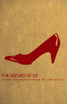 The Wizard of Oz - (I get this, but feel the image would be stronger if it actually looked like the ruby slippers.)