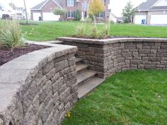 outside retainingwall stones basement staircase entrance Basement Staircase, Basement Steps, Basement Entrance, Entrance Ways, House Entrance, Retaining Wall Blocks, Stone Retaining Wall, Cinder Block Walls, Contemporary Stairs