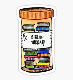 Pegatina Prescription for Books