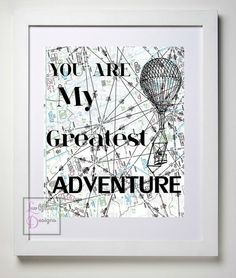 You Are My Greatest Adventure // Aviation by LuvOfMineDesigns