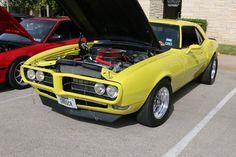 1968 Pontiac Firebird. As shown at the Leander Car Show in November 2014 in Leander TX USA.