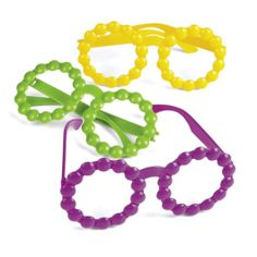 Mardi Gras Beaded Glasses Assorted Colors 1ct   Wally's Party Factory #mardigras #glasses
