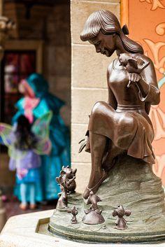 Cinderella fountain, fairy godmother and fairy by CodyWDWfan