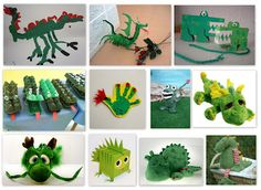 Idees per fer dracs. Dragon Crafts, Dragon Art, Crafts To Do, Crafts For Kids, St Georges Day, Monster Characters, Dinosaur Crafts, Saint George, Spring Crafts