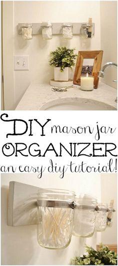 17 Repurposed DIY Bathroom Storage Solutions | GleamItUp