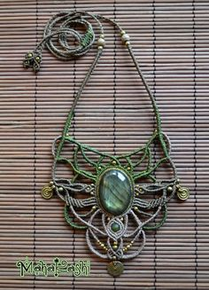 Macrame necklace The Enchanted Forest with by MahakashiCreations