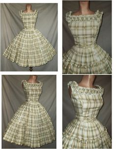 50's dress I would LOVE this in a blue stripe!