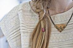 Studded Leather Necklace by Anný Ætiþistillsdóttir | Project | Jewelry / Necklaces | Kollabora #diy #kollabora #jewelry #necklace