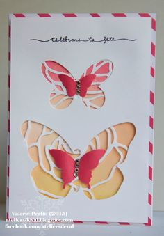 Judi Carpenter will use the Rose Garden Thinlits dies (in 2016 Occasions catalog) and Bold Butterflies Framelits to recreate this card.