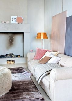 pastel living room
