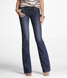 STELLA REGULAR FIT BOOT CUT JEAN at Express.  The most comfortable jean I ever tried on!!