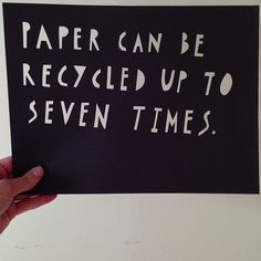 How many cycles for paper recycling? #getwise2013 #recycling #paper #papercut