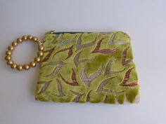 The perfect wriststlet bag cotton velvet 100 Made by vquadroitaly, on etsy