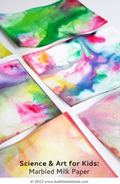 Turn the popular marbled milk science experiment into colorful paper!
