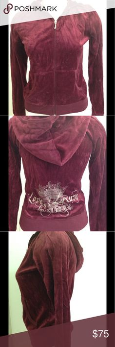 Juicy Couture Maroon NWT Jacket Size L Soft and Fashionable this NWT Juicy Couture Jacket is so fun and comfortable. Brand new and read to ship! Bundle and Save! Juicy Couture Jackets & Coats