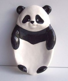Ready to Paint Adorable Panda Soap Trinket Jewelry Dish Holder Home Decor Unpainted Ceramic Bisque Paint Your Own - U Paint Ceramic Bisque by MagicalMud on Etsy