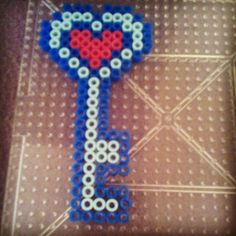 Key to my heart perler beads by raveprincess57