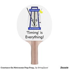 Constance the Metronome Ping-Pong Paddle