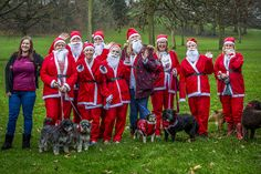 A huge thank you to all our friends, family, companions and supporters who braved the elements (torrential rain) and ran the soggiest!!! of Santa Jogs (5km fundraising event) around Mary Stevens Park, Stourbridge in support of The Mary Stevens Hospice this morning . Even through the rain, mud and slip-ups there were sunshine smiles. #christmas #santajog #stourbridge #charity #vets