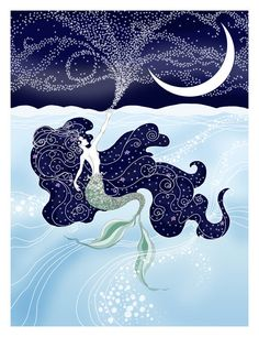 """12x18 The Little Mermaid """"Sea & Sky"""" art print - signed on Etsy, $40.00"""