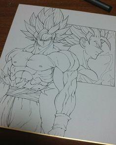 Learn To Draw Manga - Drawing On Demand Goku Drawing, Ball Drawing, Dragon Ball Gt, Dessin My Little Pony, Dbz Drawings, Z Arts, Anime Sketch, Anime Art, Character Design