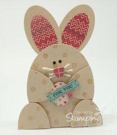 Stampin' Up! Stamping T! - Oval Framelit Easter Bunny