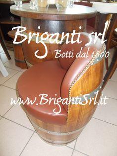 2074 - Poltrona da botte per bar - Briganti srl