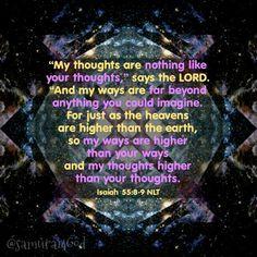 Isaiah 55:8-9 NLT