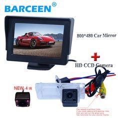 "Car reversing camera +car screen monitor  4.3"" 4 ir adapt for Renault Fluence/Dacia Duster/Megane 3/ for Nissan Terrano"