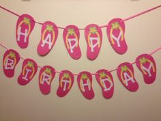 Flip Flop Happy Birthday Banner Luau Banner by AngiesDesignz, $25.00