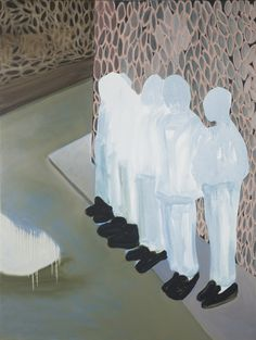 "Saatchi Online Artist: Astrid Oudheusden; Oil, 2012, Painting ""Waiting for the Next Thing"""