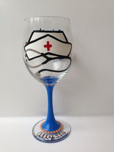 Nursing Wine Glass by HCMGifts on Etsy, $15.00