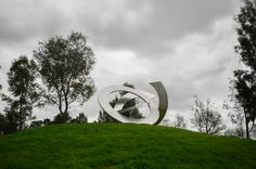 Heide Gallery - NGE KINGRings of Saturn stainless steel 450 x 450 x 450 cm Melbourne, Stainless Steel, City, Gallery, Cities