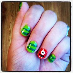 Yo Gabba Gabba! Omg do your nails for Lycans party!! lol