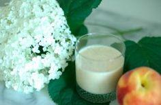 avocado-peach smoothie!