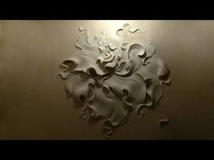 ▶ Wall sculpture, walls painting. Настенная живопись, рельефный рисунок на стене, роспись стен - YouTube