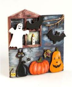 Super Ideen und Bastelmaterial zu Halloween, gibt's jetzt auf unserer Website! Candle Sconces, Wall Lights, Candles, Home Decor, Wood Slab, Wooden Figurines, Cute Ideas, Halloween Ideas, Handarbeit