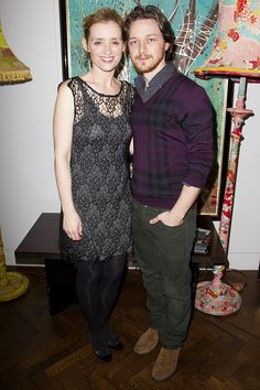 Anne-Marie Duff and James McAvoy at The Hospital Club